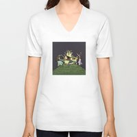 kindle V-neck T-shirts featuring Fairy Dance by Richard Fay