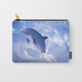 Funny cartoon dolphin Carry-All Pouch