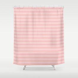 Wide Soft Blush Pink Mattress Ticking Stripes Shower Curtain