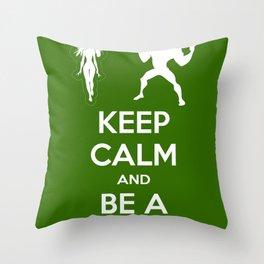 Keep Calm and Be a Superhero Throw Pillow