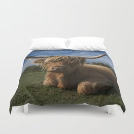 Rugged Highland Cow Duvet Cover