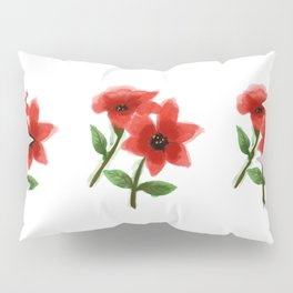 Red Roses Painting Artwork Pillow Sham
