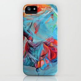 Running inside my dreams, 100-100cm, 2020, oil on canvas iPhone Case