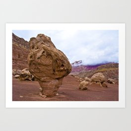 On the road to the Grand Canyon. Arizona, USA. Art Print