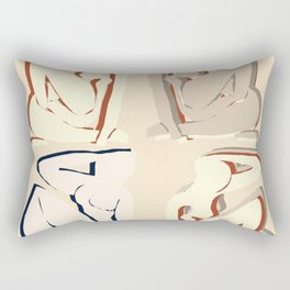 Matisse beige curves cut outs exhibition poster Rectangular Pillow