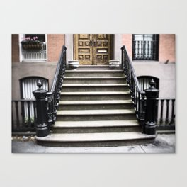 Manhattan Porch Stoop, New York Canvas Print
