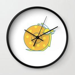 Lowercase o, no border Wall Clock