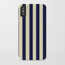 Navy Stripes iPhone Case