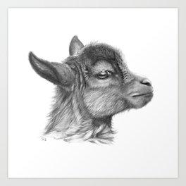 Goat baby G099 Art Print