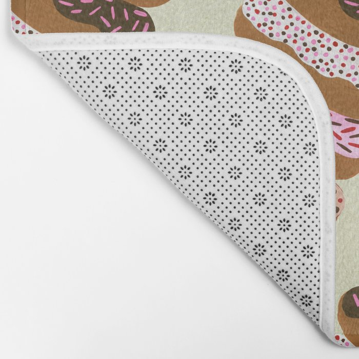 Stacked Donuts on Cream Bath Mat
