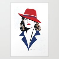 peggy carter Art Prints featuring Peggy Carter by Arne AKA Ratscape