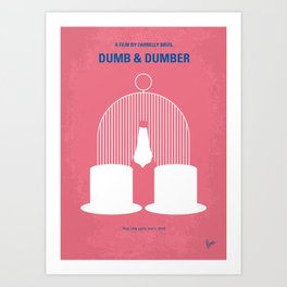 No241 My Dumb & Dumber minimal movie poster Art Print
