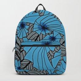 Mandala Blue Grey Abstract Backpack