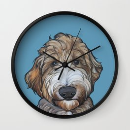 Seamus the Labradoodle Wall Clock