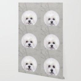 Bichon illustration, Dog illustration original painting print Wallpaper