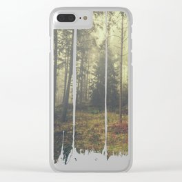 They whisper things Clear iPhone Case