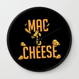Mac And Cheese | Favorite Food Delicious Tasty Wall Clock