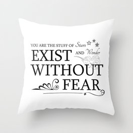 You are the Stuff of Stars and Wonder Throw Pillow