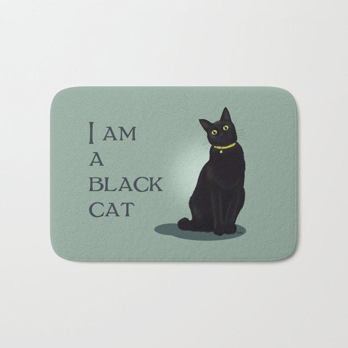 I am a black cat Bath Mat