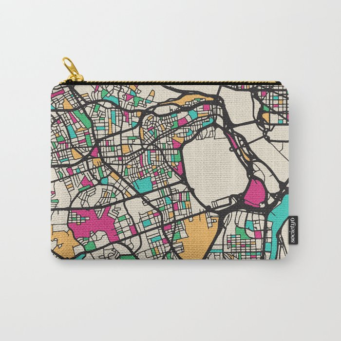 Colorful City Maps: Arlington County, Virginia Carry-All Pouch