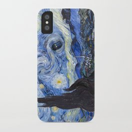 Starry Night with TARDIS iPhone Case