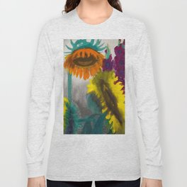 Mexican Sunflowers still life painting by Emil Norde Long Sleeve T-shirt