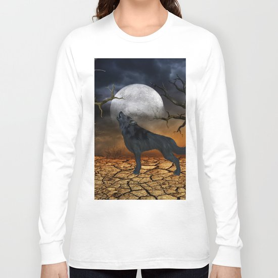 The lonely wolf Long Sleeve T-shirt