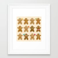 ginger Framed Art Prints featuring Ginger by Kakel