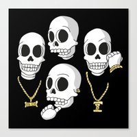 2pac Canvas Prints featuring Death Row by Zhi-Yun