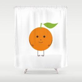 Orange character Shower Curtain