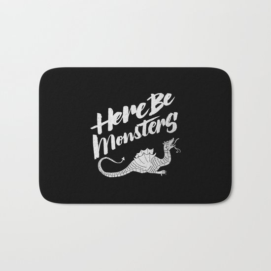 HERE BE MONSTERS Bath Mat