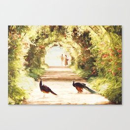 Lovers and Peacocks Canvas Print