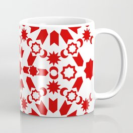 Red Arabesque Coffee Mug