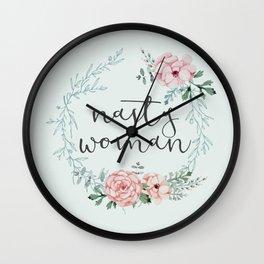 I am a Nasty woman Wall Clock