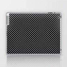 Black and Sharkskin Polka Dots Laptop & iPad Skin