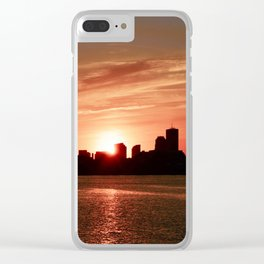 Boston Sunset Clear iPhone Case