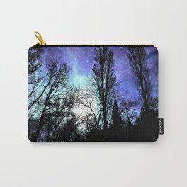 Black Trees Periwinkle Blue Lavender SPACE Carry-All Pouch
