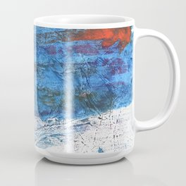 Steel blue colored wash drawing texture Coffee Mug