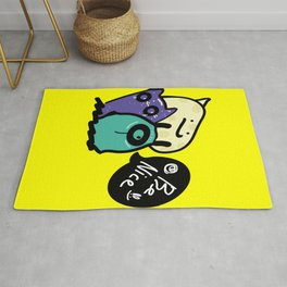 Be nice monsters Rug