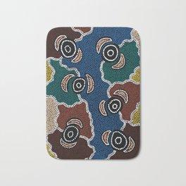 Authentic Aboriginal Art - Riverside Dreaming Bath Mat