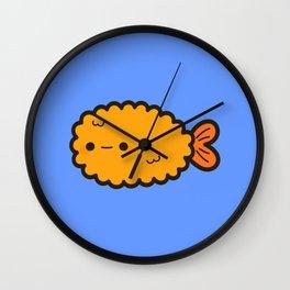 Cute prawn tempura Wall Clock