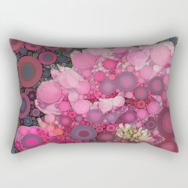 Pink Flowers at Twilight Abstract Rectangular Pillow