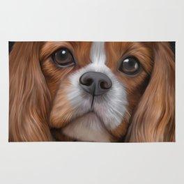 Drawing Dog Cavalier King Charles Spaniel Rug