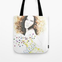 sparkle Tote Bags featuring sparkle by jollypot