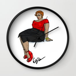 Plus Size Beauty Wall Clock