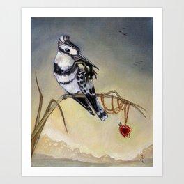 King of Hearts (Bird) Art Print