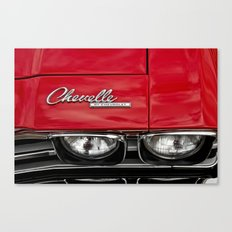 1969 Red Chevrolet Chevelle Car Canvas Print