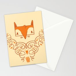 Ornate Fox Stationery Cards