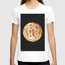 Orange Crater Planet T-shirt