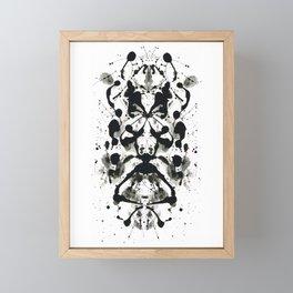 Rorschach-Poem Framed Mini Art Print